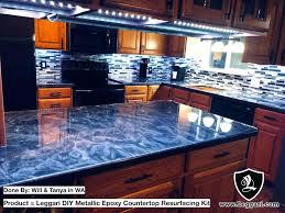 metallic countertop kit refinish kitchen kit with best metallic resurfacing kits metallic countertop