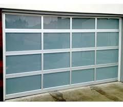 aluminum garage doorContemporary Aluminum  White Laminate Privacy Glass Garage Door