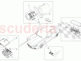 maserati 673002772 front compart fuses box cover scuderia car parts fuses box cover