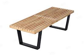 george nelson platform bench in natural solid wood 4 feet