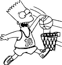 Coloriage Simpson Basket Imprimer Sur Coloriages Info