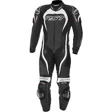 rst tractech evo 2 one piece leather suit white