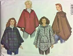 Poncho Sewing Pattern Simple PONCHO Sewing Pattern Women's Ponchos PLUS SIZE Sewing