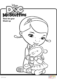 Doc Mcstuffins Coloring Books Pages To Print With New Mcstuffin Free