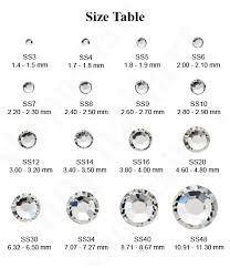 Hotfix Crystal Size Chart Google Search Performance
