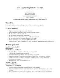 Resume Examples For Engineering Students Free Template Civil