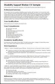 Factory Worker Cv Disability Support Worker Cv Sample Myperfectcvpersonal