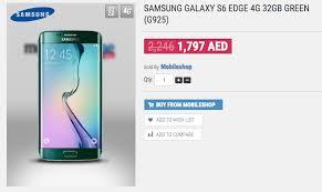 samsung galaxy s6 edge price list. samsung galaxy s6 uae price drops ahead of s7 launch edge list