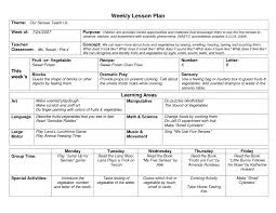 44 Free Lesson Plan Templates Common Core Preschool Weekly Physical