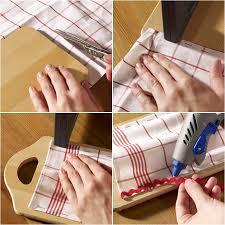 diy kitchen storage ideas cutlery pockets wall hanging cutting board