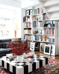 black and white checd floor runner red rug living room carpet