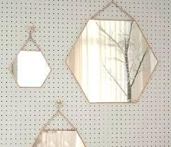 hexagon wall mirror hexagon wall mirror