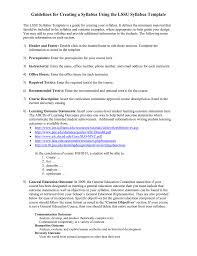 creating a syllabus guidelines for creating a syllabus using the lssu syllabus