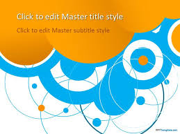 Blue And Orange Powerpoint Template Free Blue Circles Ppt Template