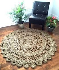 giant crochet doily rug giant jute rug large jute rug 4 10