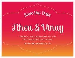 Red Save The Date Cards Indian Sunset Save The Date Cards