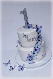 1st Birthday Butterfly Cake Cakecentralcom