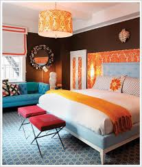 Split Complementary Room color psychology: decorating with orange