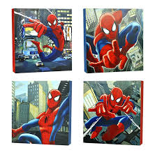 4 piece wall art sets for preferred amazon marvel spider man canvas wall art  on marvel spiderman canvas wall art 4 piece with gallery of 4 piece wall art sets view 5 of 15 photos
