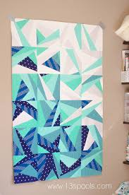 170 best Modern Quilts images on Pinterest | DIY, Baby quilts and ... & Baby quilt version of icy waters. Super cute modern ombre quilt. Adamdwight.com