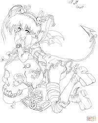 Small Picture Anime Demon Girl by Gabriela Gogonea coloring page Free
