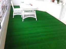 1 of 8free evergreen collection indoor outdoor green artificial grass turf area rug 311x66