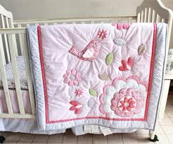 pink crib bedding sets happy bird baby girl bedding set pink crib bedding set for newborns pink crib bedding sets