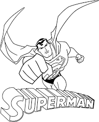 Superman coloring pages for kids. Coloring Pages Printable Superman Coloring Pages For Children
