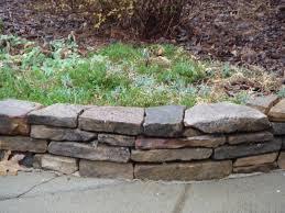 Garden Ideas Stacked Stone Flower Bed Border Front Yard Curb Appeal