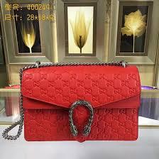 gucci 400249. gucci 400249 dionysus gg supreme shoulder handbags red leather