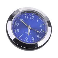 homyl high accuracy car dashboard clock classic table mini quartz clock car onboard small round clock blue