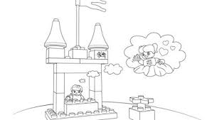 princess and the pea coloring page. the princess and pea scene 1 coloring page