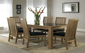 chic wooden dining table designs with glass top stylish pertaining to tables decorating for used and