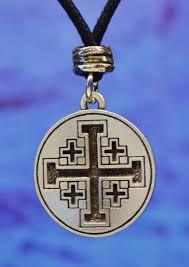 crusaders cross pewter pendant