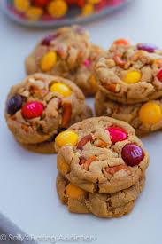 bite size peanut er pretzel mm cookies by sallys baking addiction cookies