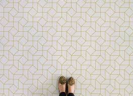 geometric vinyl flooring