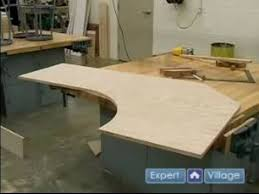 How to Build a Custom Computer Desk : How to Cut the Oak Top for your Custom  Oak Computer Desk - YouTube