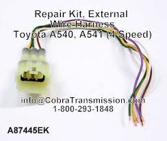 solenoid sensor cobra transmission a87445ek repair kit external wire harness toyota a540 a541 4 speed