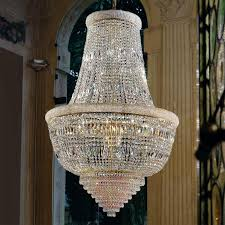 imposing osaka crystal chandelier with gold design hotel lighting