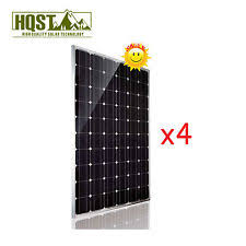 watt solar panel 1000w 1kw 24v solar panel mono 4pcs 250 watts 24 volts rv boat off grid system