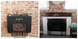gas fireplace wood mantel