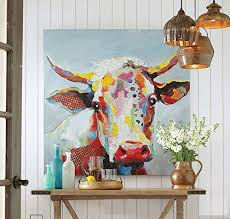 artist handmade modern mural picture on canvas wall art cow painting hang paintings abstract pop art on mural wall artist with artist handmade modern mural picture on canvas wall art cow painting