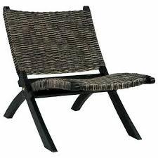 vidaXL <b>Relaxing Chair Black Natural</b> Kubu Rattan and Solid ...
