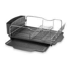 details about polder countertop dish drying rack system 4 piece stainless steel cutlery holder