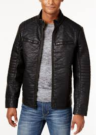 buffalo david bitton men s big tall textured faux leather jacket