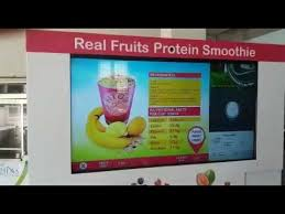 Smoothie Vending Machine Unique Fitgo Smoothie Vending Machine In Action YouTube