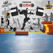 photo wallpaper <b>Nostalgic retro graffiti</b> brick wall mural sports fitness ...