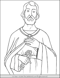 Saint Peter Coloring Page The Catholic Kid Catholic Saints Coloring Pages Peter The Rock L