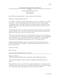 Letter Of Introduction Template For Employment Letter Of