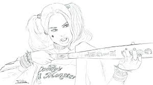 harley quinn coloring book also squad pages printable colouring page
